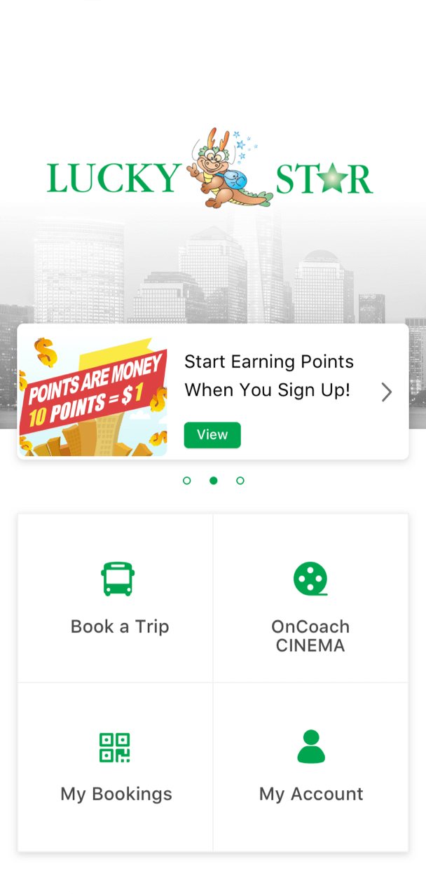 Download the Lucky Star app for easy booking